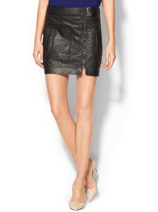 Trina Turk Kristol Leather Skirt