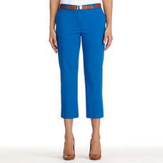 Stretch Cotton Cropped Pants (Petite)