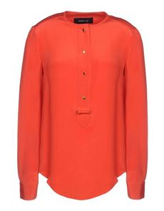 DEREK LAM Crêpe Solid color Round collar Single button cuffs Button closing Long sleeves Crêpe Woven Long sleeves