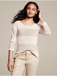 Metallic Stripe Pullover