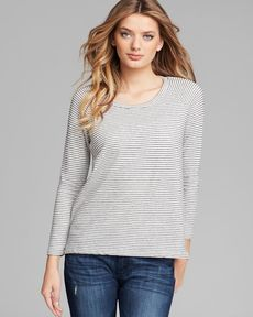 James Perse Pullover - Mini Stripe Raglan