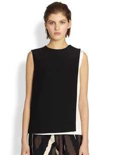 Fendi Layered Cady Blouse
