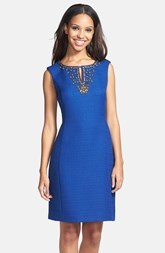 Ellen Tracy Sleeveless Bouclé Shift Dress