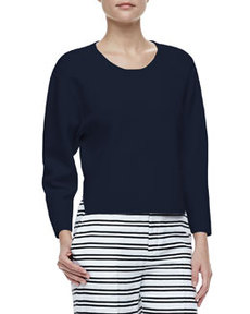 Jill Dropped-Sleeve Sweater   Jill Dropped-Sleeve Sweater