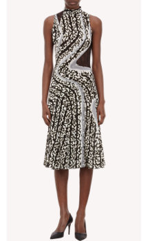 "Proenza Schouler Stud Snap-Seam ""Bug""-Print Dress"