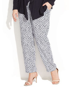 MICHAEL Michael Kors Plus Size Printed Wide-Leg Pants