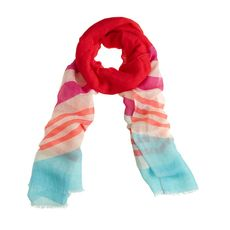 Colorblock stripe scarf