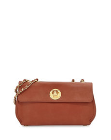 Moschino Borsa Faux-Leather Crossbody Bag, Brown