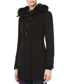 Andrew Marc Randi Basket-Weave Toggle Coat