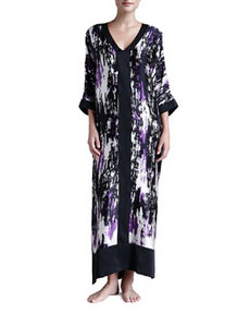 Glamour Abstract-Print Silk Caftan   Glamour Abstract-Print Silk Caftan