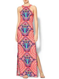 Mara Hoffman High Neck Column Dress