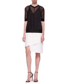 J Brand Ready to Wear Elsa Sheer Short-Sleeve Top
