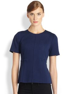 Saks Fifth Avenue Collection Ponte Crewneck Top