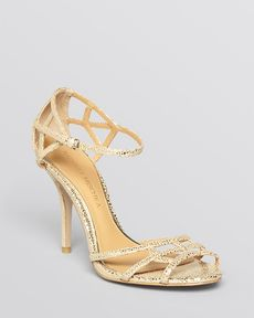 Badgley Mischka Open Toe Evening Sandals - Kerrington High Heel