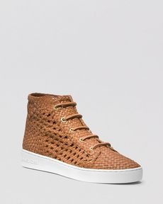 Michael Kors Lace Up High Top Sneakers - Verna