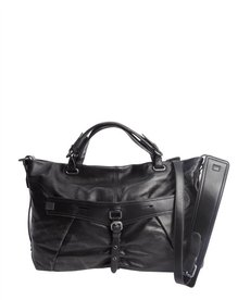 Kooba black leather 'Desmin' convertible bag
