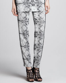 J Brand Ready to Wear Griswold Printed Straight-Leg Pants
