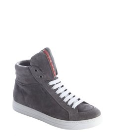 Prada Sport grey suede high tops