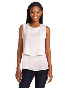 Calvin Klein Women's Double Layer Blouse