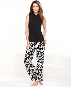 Alfani Sleeveless Top and Pajama Pants Set