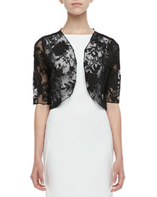 Lela Rose Lace Bolero, Black