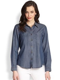 Eileen Fisher Classic Chambray Shirt