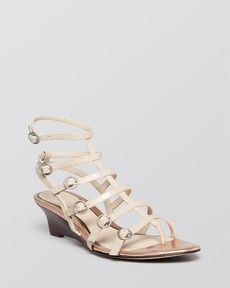 Elie Tahari Open Toe Gladiator Wedge Sandals - Troy