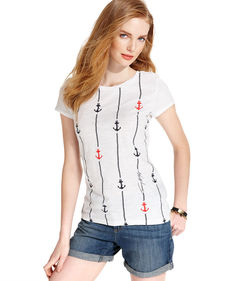 Tommy Hilfiger Short-Sleeve Rope Anchor Tee