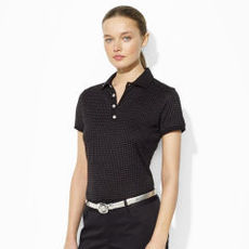 Polka-Dot Cotton Polo Shirt