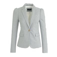 Puff-sleeve blazer in seersucker