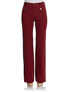 Stella McCartney Wide-Leg Corduroy Pocket Pants