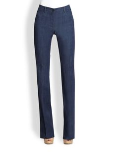 Akris Punto Denim Faye Bootleg Pants