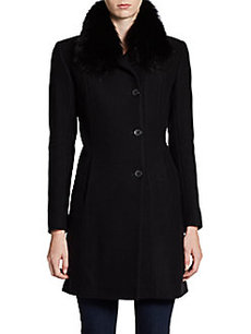 Andrew Marc Posh Fur Collar Coat