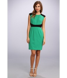 Calvin Klein Cap Sleeve Colorblock Lux Sheath Dress