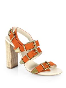 Chloe Suede Buckle-Strap Sandals