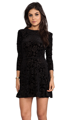 DV by Dolce Vita Azalia Stretch Velvet Dress in Black