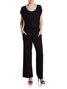 Max Studio Scoop Neck Wide-Leg Jumpsuit