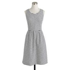 Stripe back-zip dress