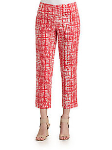 Lafayette 148 New York Bleeker Printed Cropped Pants