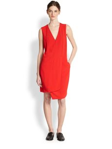J Brand Ready-To-Wear Mina Asymmetrical Marocain Dress