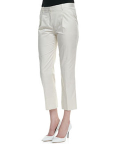 Jorah Pleated Straight-Leg Pants   Jorah Pleated Straight-Leg Pants