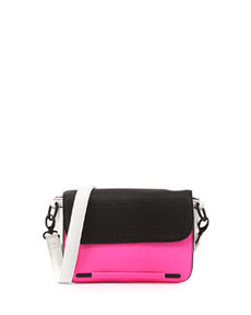 French Connection Perforation Celebration Mini Crossbody Bag, Pink