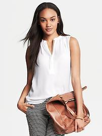 Shirred Sleeveless Top