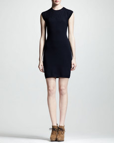 Lanvin Jewel-Embossed Sheath Dress
