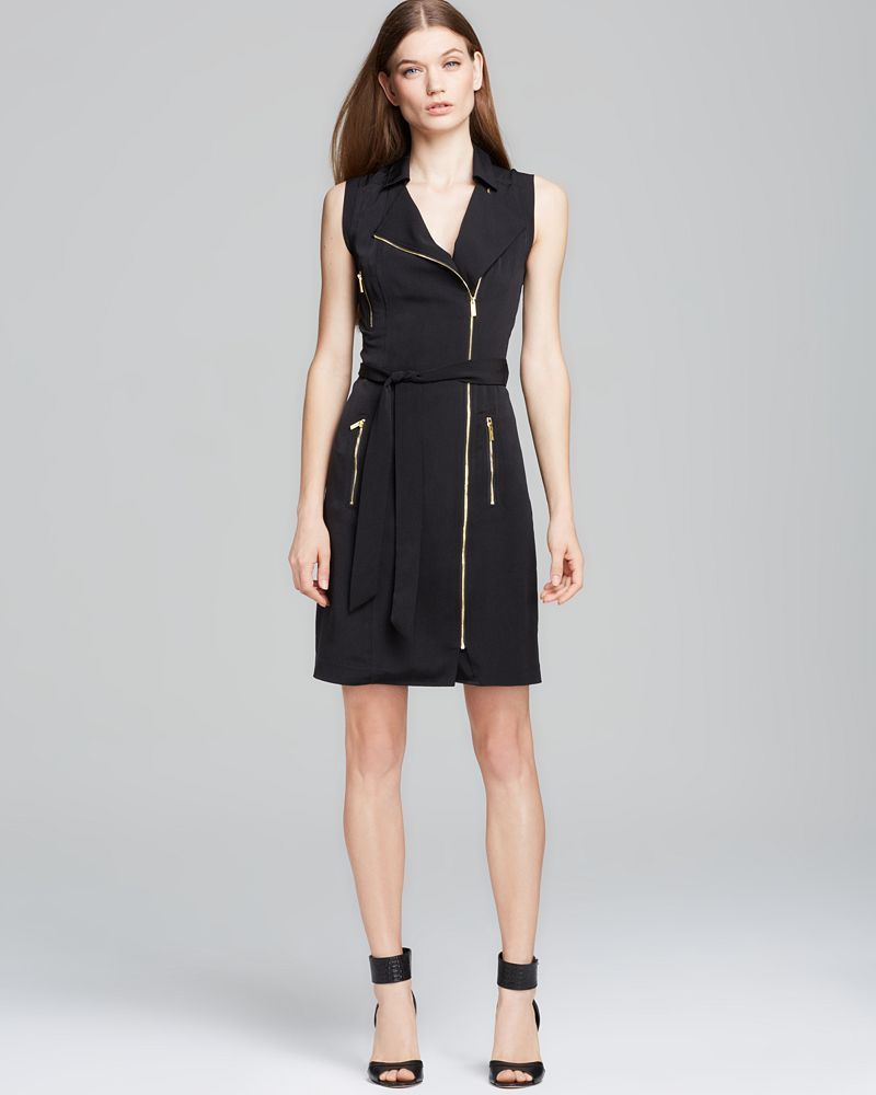 Calvin Klein Moto Zip Dress