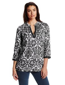 Jones New York Women's 3/4 Sleeve Tunic