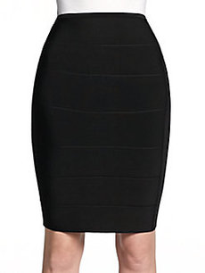 Saks Fifth Avenue BLACK Bandage Pencil Skirt