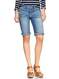 1969 skinny bermuda denim shorts