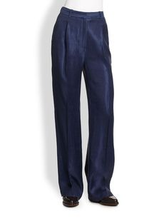 3.1 Phillip Lim High-Waisted Coated Wide-Leg Pants