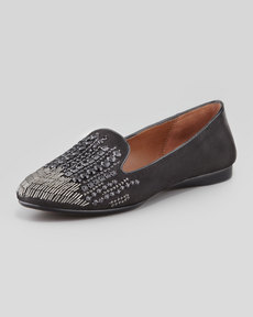 Donald J Pliner Dita-KS Jewel Smoking Slipper, Black